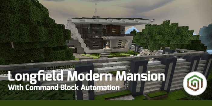 Longfield Modern Mansion Map For Minecraft Pe 1 14 30 51 1 13 1 1 13 0 1 12 1 1 12 0 1 11 0 1 10 0 1 9 0