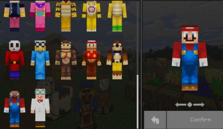 Super Minecraft Bros v1.1 – Skin Pack Minecraft PE 1.13.0.9, 1.13.0, 1.12.0, 1.11.0, 1.10.0