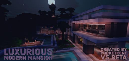 Luxurious Modern Mansion V5 Minecraft Map 1 16 0 51 1 16 0 1 15 056 1 14 30 1 13 1