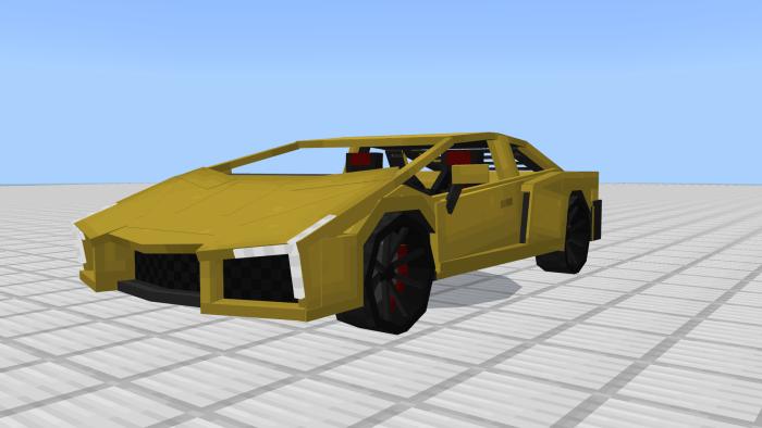 Lamborghini Bmero Minecraft PE