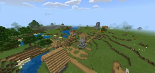 Village Pyramid Badland Savannah Mesa And Flat Lands Nearby Minecraft Pe Seed 1 16 1 15 1 14 1 13 1 12 1 11 1 10